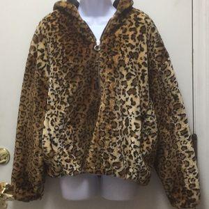 New Look Animal Print hooded jacket